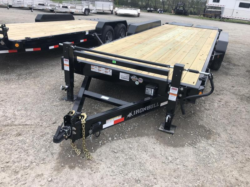 2019 IRON BULL 83X24 EQUIPMENT HAULER TRAILER