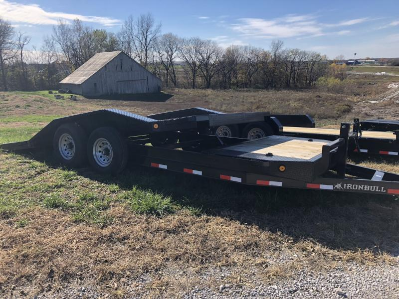 2019 IRON BULL 102 X 20 TILT EQUIPMENT HAULER LOPRO TRAILER