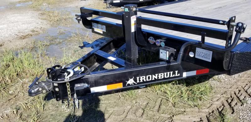 2019 IRON BULL 102 X 28 EQUIPMENT HAULER TRAILER WITH DRIVE OVER FENDERS