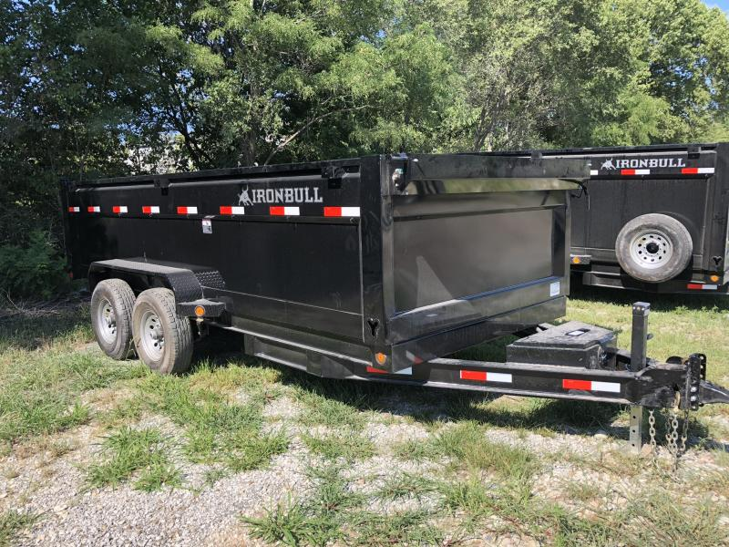"2018 IRON BULL 83X16 BUMPER DUMP TRAILER WITH 36"" SIDES in Cainsville, MO"