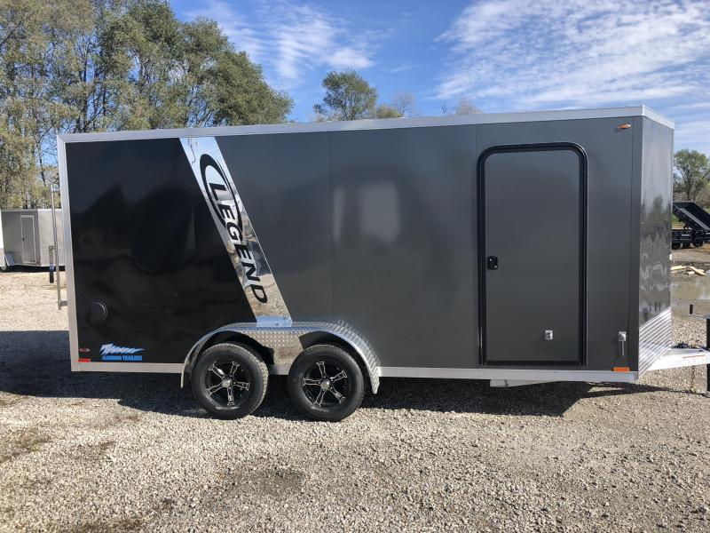 "2019 LEGEND 7 X 18 X 76"" ALL ALUMINUM CARGO TRAILER WITH TORSION AXLES"