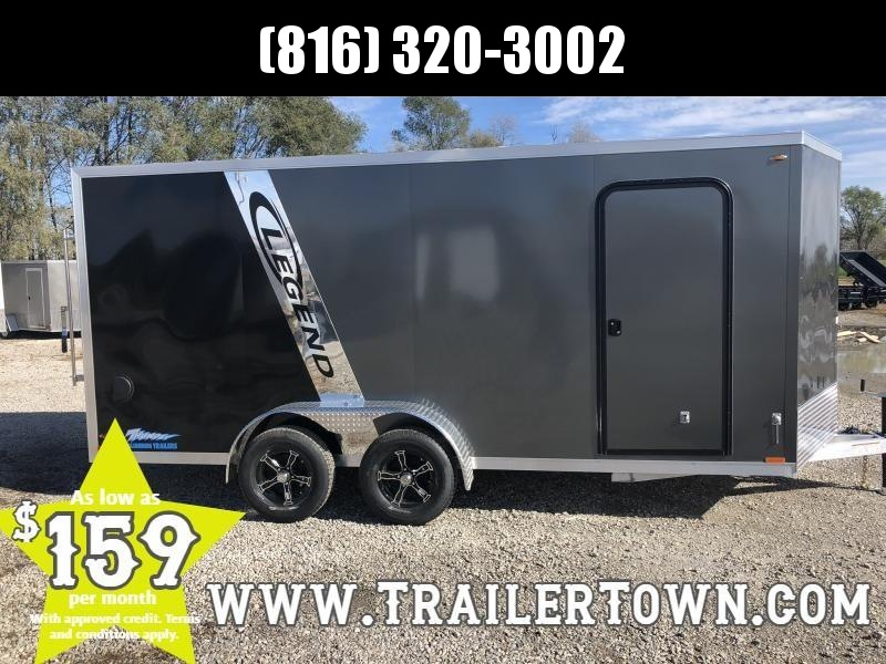 "2019 LEGEND 7 X 18 X 78"" ALL ALUMINUM CARGO TRAILER WITH TORSION AXLES"