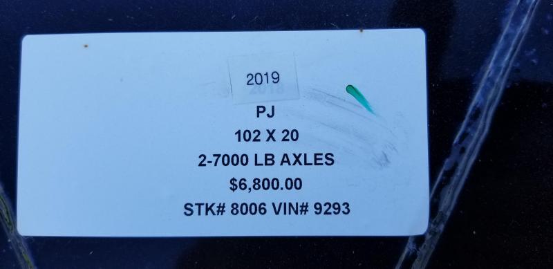 2019 PJ TRAILERS 102X20 BUMPER DECKOVER FLATBED TRAILER