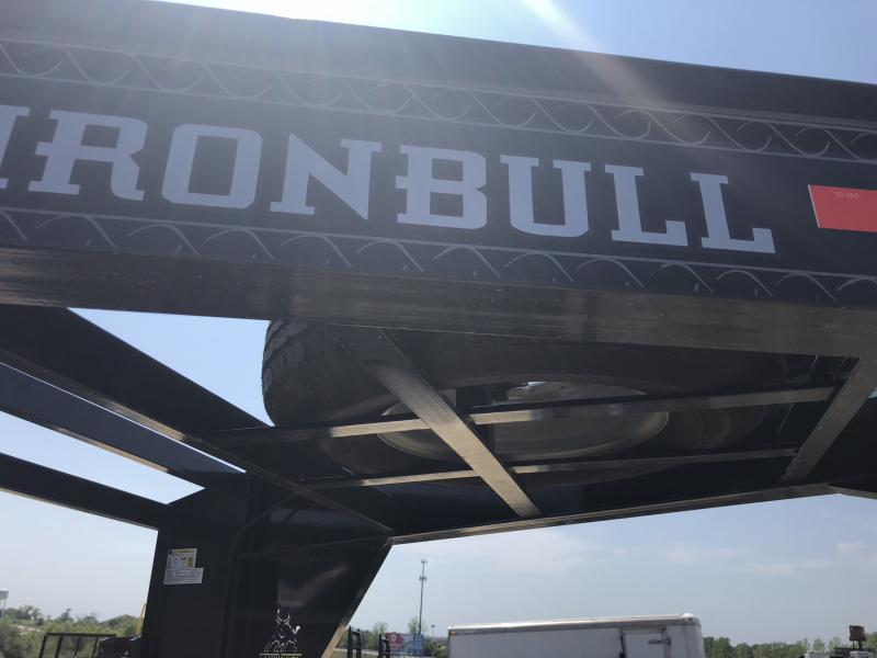 2018 IRON BULL 102X26 GOOSENECK EQUIPMENT HAULER TRAILER WITH DRIVE OVER FENDERS