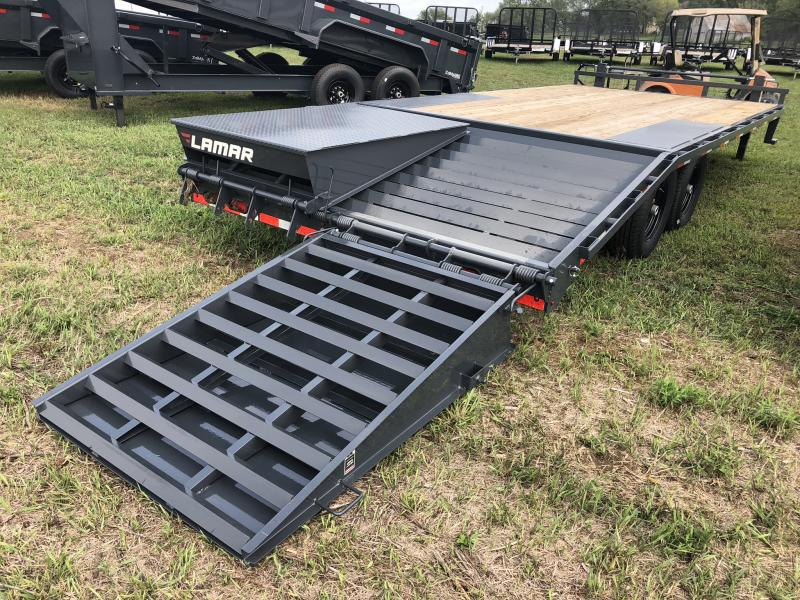 2018 LAMAR 102 X 20 DECK OVER FLATBED TRAILER