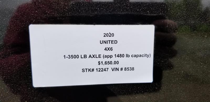 2020 UNITED 4 x 6 x 4 ENCLOSED CARGO TRAILER