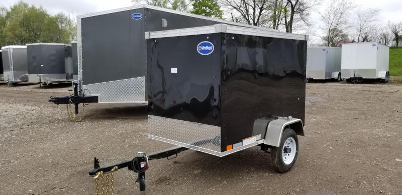 2020 UNITED 4 x 6 x 4 ENCLOSED CARGO TRAILER