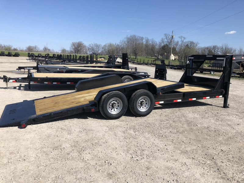 2018 IRON BULL 83X16 GOOSENECK TILT LOPRO EQUIPMENT HAULER TRAILER