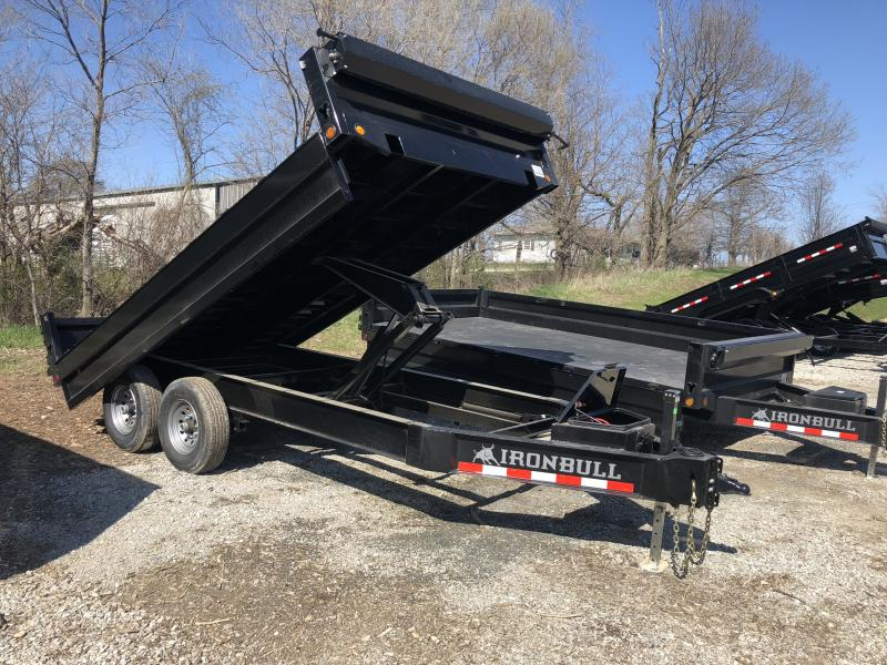 2018 IRON BULL 96X14 BUMPER DUMP DECKOVER TRAILER in Forest City, MO