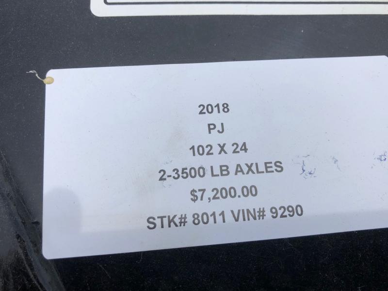 2018 PJ TRAILERS 102X24 BUMPER DECKOVER FLATBED TRAILER