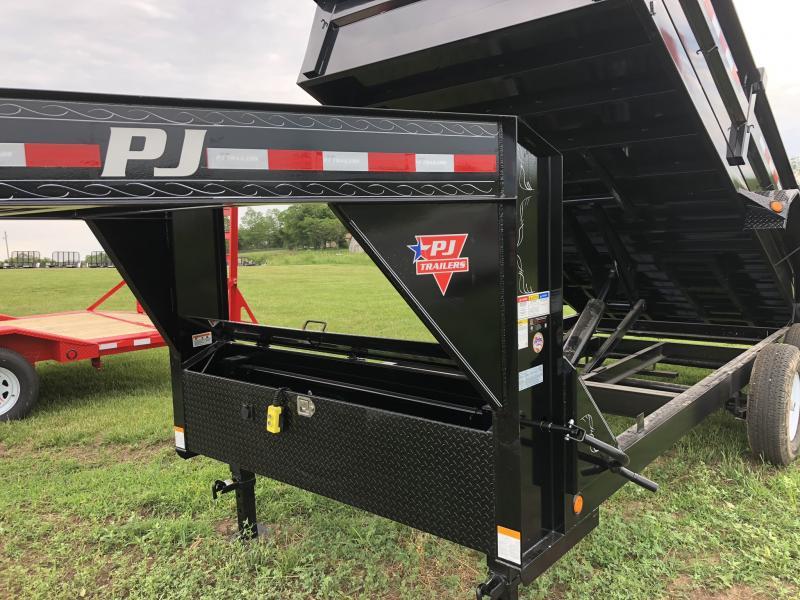 2018 PJ TRAILERS 83X16 GOOSENECK XL DUMP TRAILER