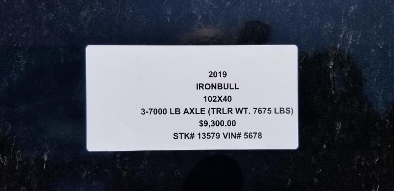 2019 IRON BULL 102 X 40 GOOSENECK DRIVE OVER FENDERS EQUIPMENT HAULER TRAILER