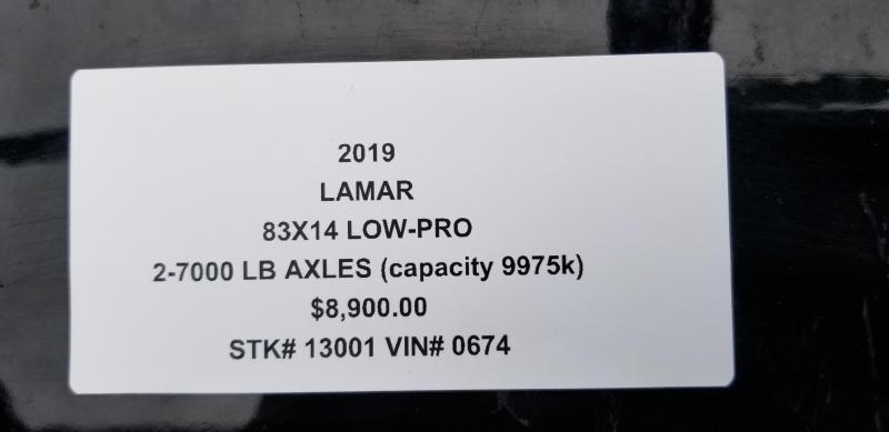 2019 LAMAR 83X14 GOOSENECK DUMP LOPRO TRAILER