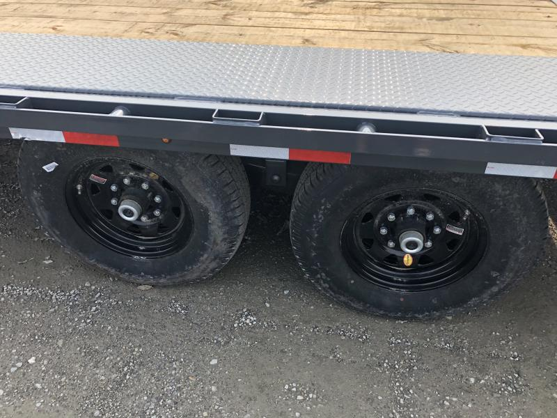 2018 LAMAR 102 X 24 DECK OVER FLATBED TRAILER