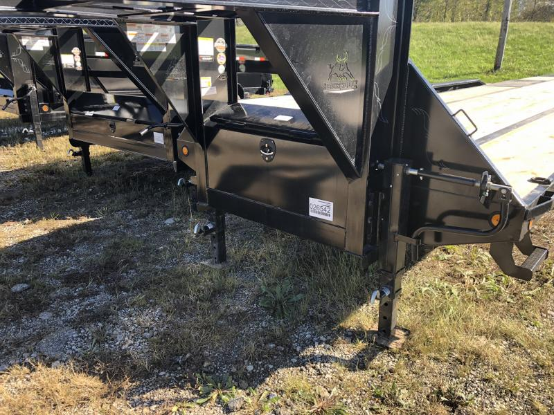 2019 IRON BULL 102X40 GOOSENECK LOPRO DECK OVER FLATBED TRAILER WITH 12K AXLES