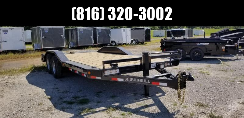 2019 IRON BULL 102 X 20 EQUIPMENT HAULER TRAILER WITH DRIVE OVER FENDERS