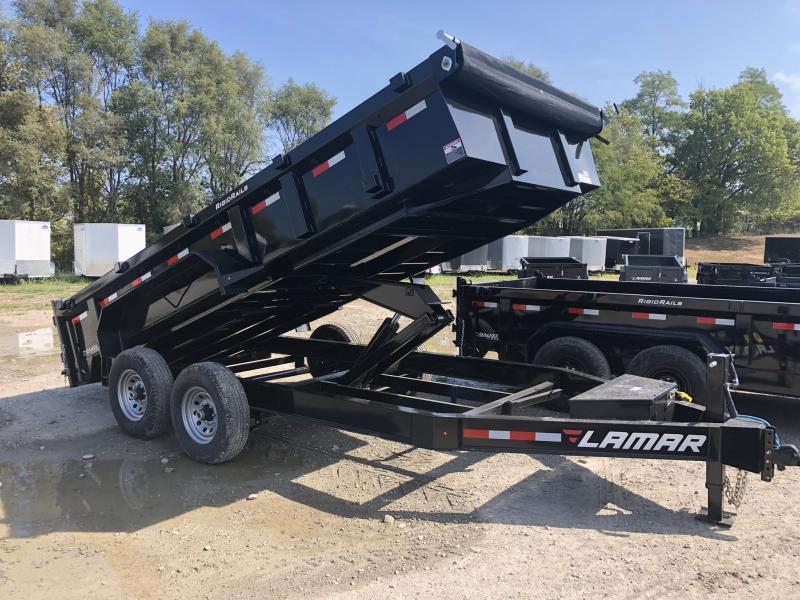 2018 LAMAR TRAILERS 83X16 LOPRO BUMPER DUMP TRAILER in Brookfield, MO