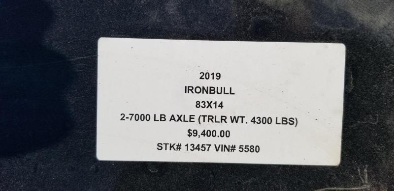 2019 IRON BULL 83x14 BUMPER DUMP LO PRO TRAILER