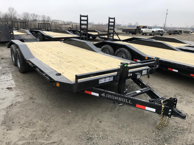 2018 IRON BULL 102X20 EQUIPMENT HAULER TRAILER WITH DRIVE OVER FENDERS