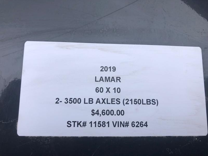 2019 LAMAR 60 X 10 MINI DUMP TRAILER