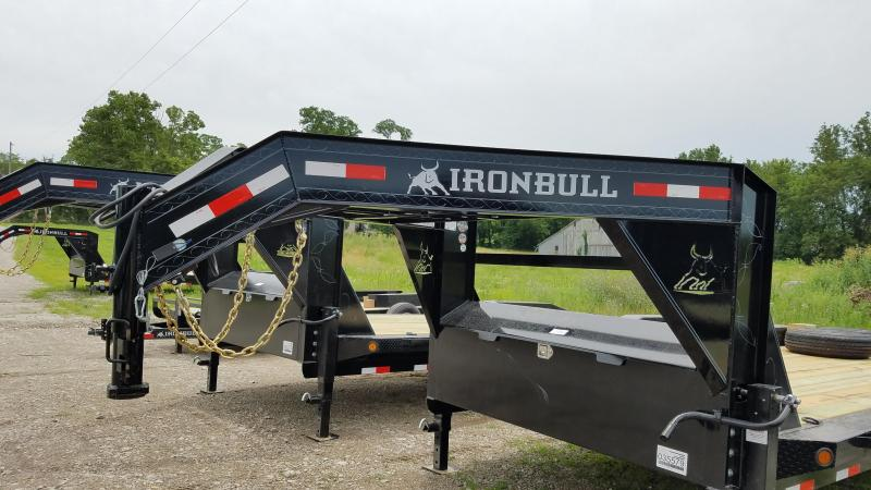 2019 IRON BULL 102 X 24 GOOSENECK EQUIPMENT TRAILER WITH DRIVE OVER FENDERS