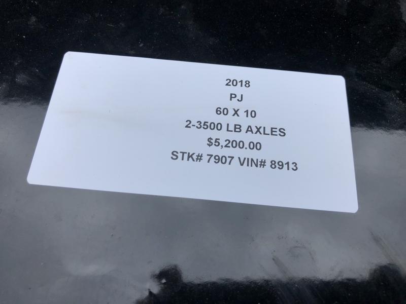 2018 PJ TRAILERS 60X10 MINI DUMP TRAILER