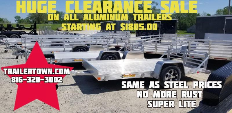 2019 BEAR TRACK 76 X 10 ALL ALUMINUM UTILITY TRAILER WITH SIDES KIT