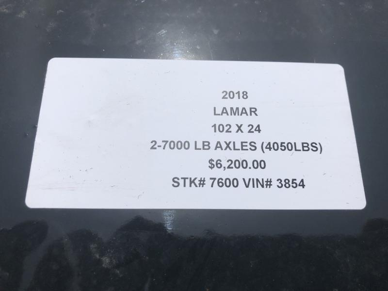 2018 LAMAR 102 X 24 DECKOVER FLATBED TRAILER