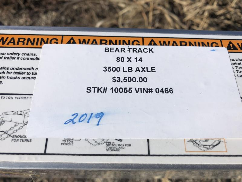 2019 BEAR TRACK 80 X 14 ALL ALUMINUM UTILITY TRAILER