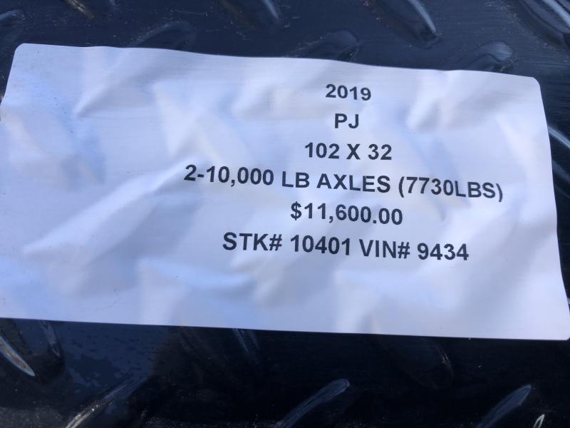 2019 PJ TRAILERS 102X32 GOOSENECK DECKOVER FLATBED LOPRO TRAILER