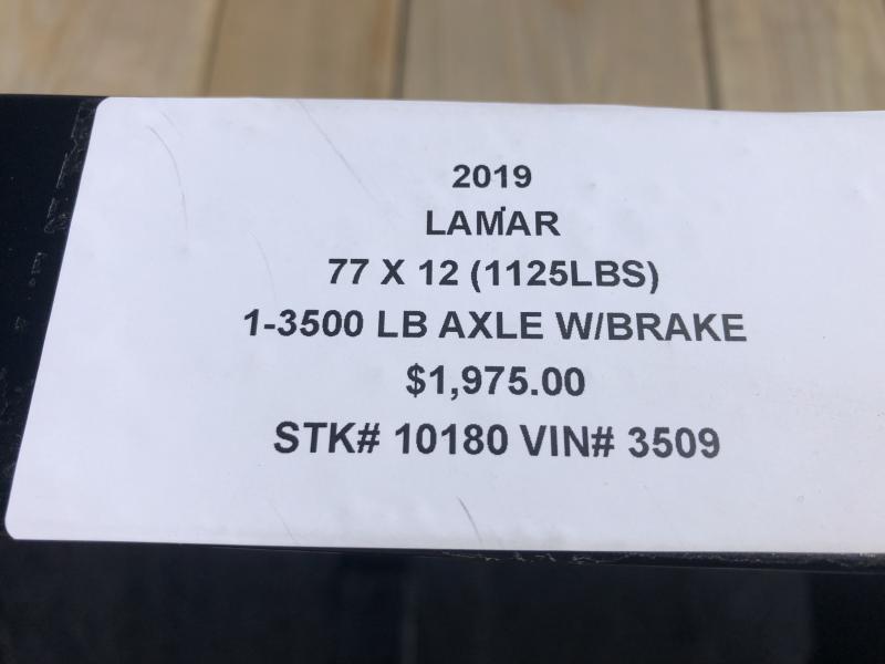 2019 LAMAR 77 X 12 UTILITY TRAILER