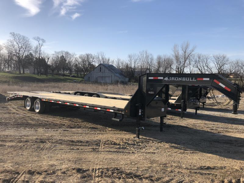 2018 IRON BULL 102X32 GOOSENECK LOPRO EQUIPMENT HAULER TRAILER