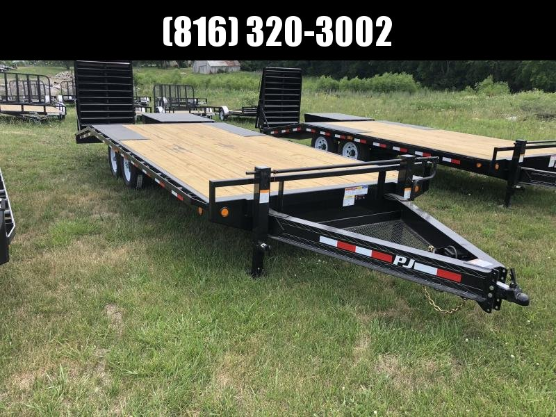 2019 PJ TRAILERS 102X22 BUMPER DECKOVER FLATBED TRAILER in Ashburn, VA