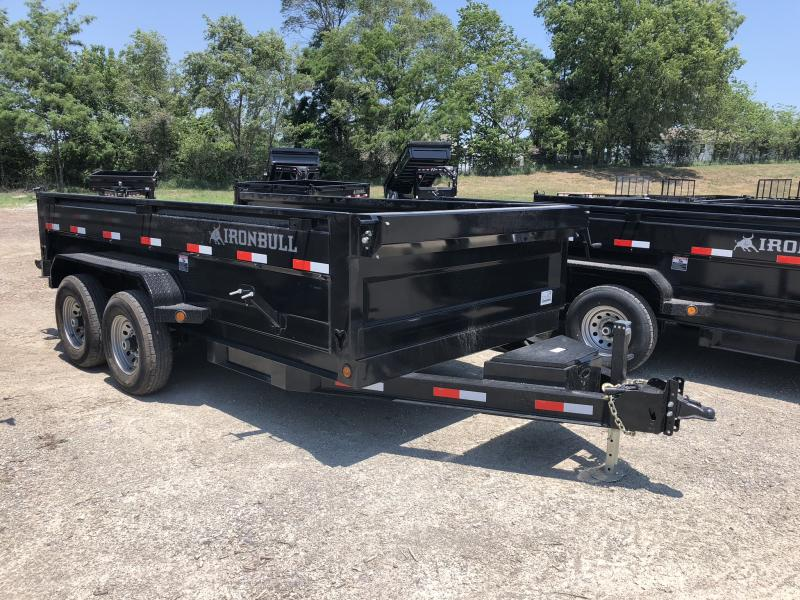 2018 IRON BULL 83X14 BUMPER DUMP TRAILER in Dawn, MO
