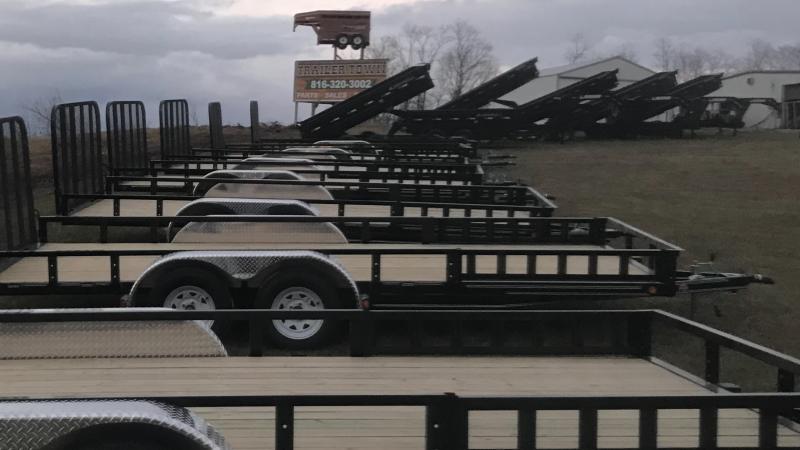 2018 IRON BULL 83X14 BUMPER DUMP TRAILER