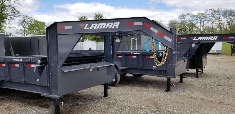2019 LAMAR 83X16 GOOSENECK DUMP LOPRO TRAILER