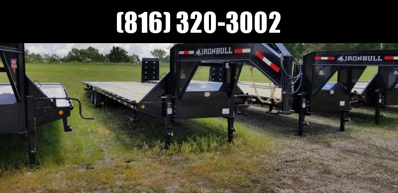 2019 IRON BULL 102X36 GOOSENECK LOPRO DECK OVER FLAT BED TRAILER WITH HYDRAULIC DOVE TAIL