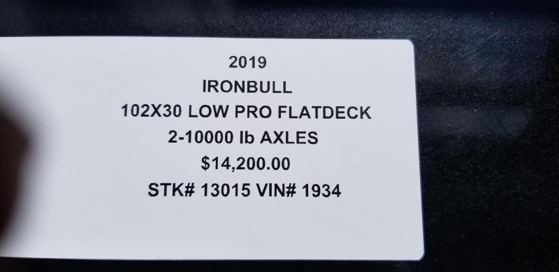 2019 IRON BULL 102X36 GOOSENECK LOPRO DECK OVER FLAT BED TRAILER