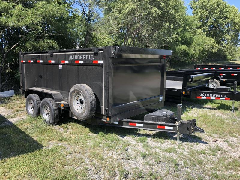 "2018 IRON BULL 83X14 BUMPER DUMP TRAILER WITH 48"" SIDES in Cainsville, MO"