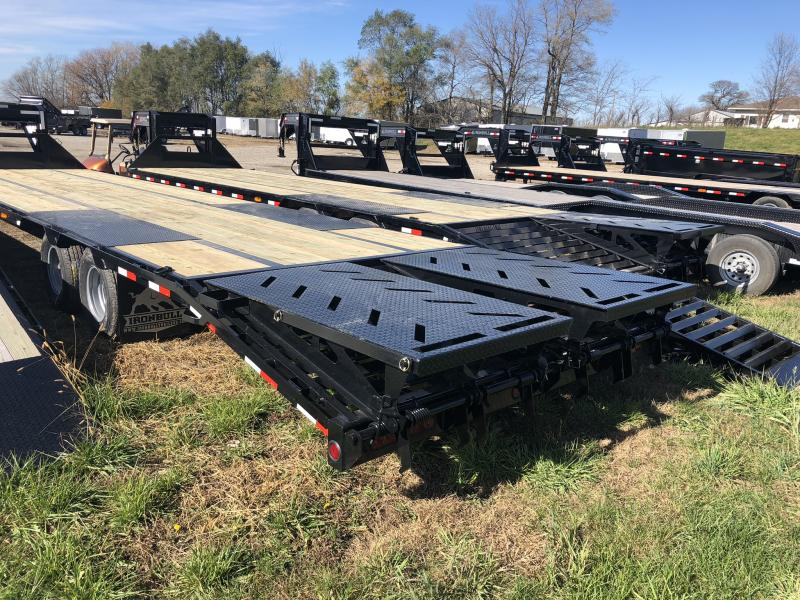 2019 IRON BULL 102X36 GOOSENECK LOPRO DECKOVER FLATBED TRAILER WITH 10K LB AXLES