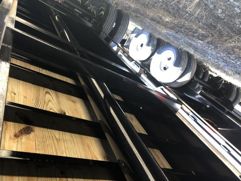 2019 IRON BULL 102X36 GOOSENECK LOPRO DECKOVER FLATBED TRAILER WITH 10K LB AXLES