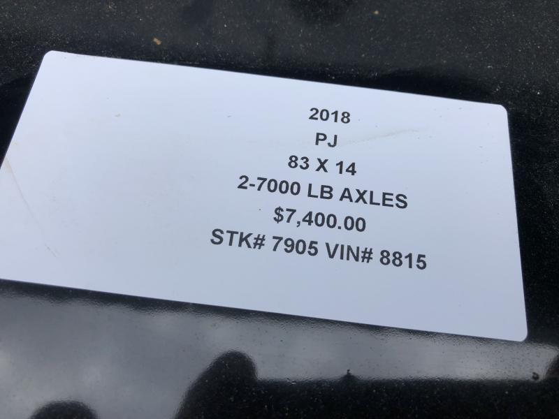 2018 PJ TRAILERS 83X14 BUMPER DUMP TRAILER