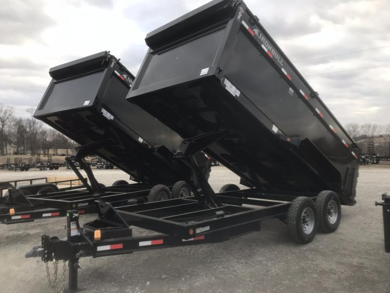 "2018 IRON BULL 83X16 BUMPER DUMP TRAILER WITH 48"" SIDES!!"