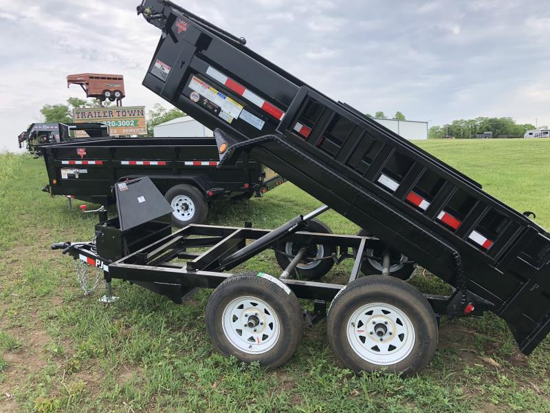 2018 PJ TRAILERS 60X10 MINI BUMPER DUMP TRAILER