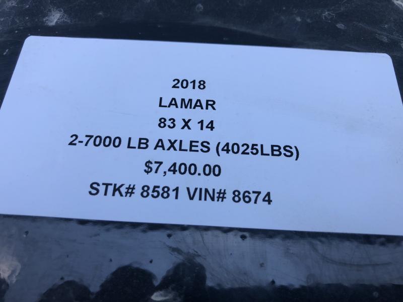 2018 LAMAR TRAILERS 83X14 LOPRO BUMPER DUMP TRAILER