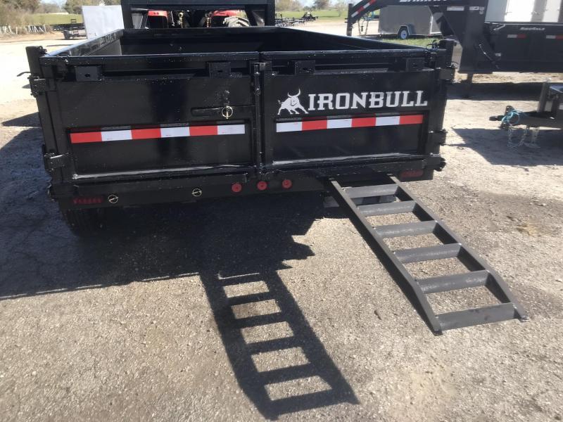 2017 IRON BULL 83x14 GOOSENECK DUMP TRAILER