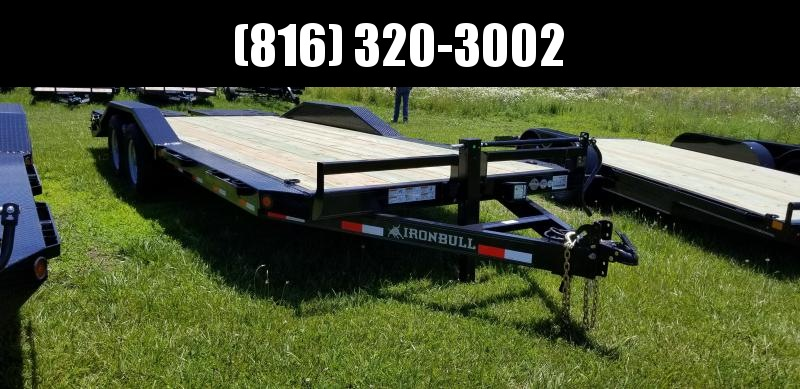 2019 IRON BULL 102 X 22 EQUIPMENT HAULER TRAILER WITH DRIVE OVER FENDERS