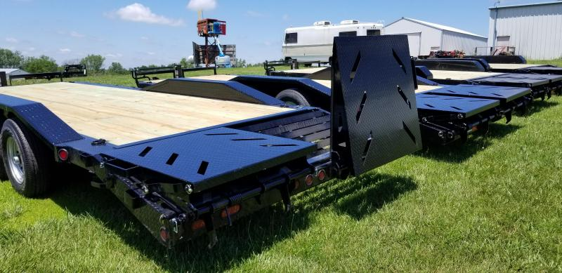 2019 IRON BULL 102 X 22 EQUIPMENT HAULER TRAILER WITH DRIVE OVER FENDERS