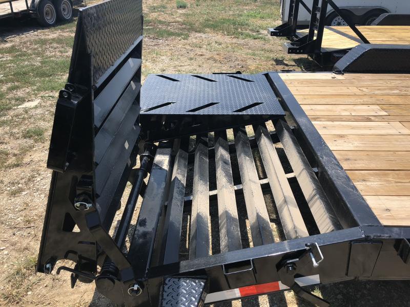2018 IRON BULL 102X20 EQUIPMENT HAULER TRAILER WITH DRIVE OVER FENDERS