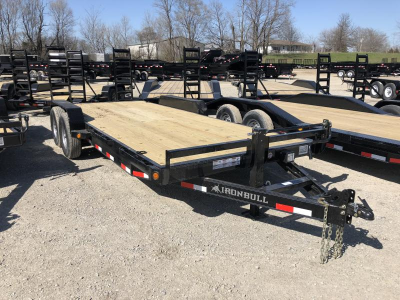 2018 IRON BULL 83X20 EQUIPMENT HAULER TRAILER